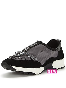 carvela-lamb-embellished-trainer