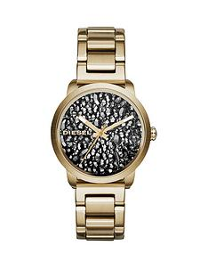 diesel-flare-rocks-stone-dial-gold-tone-bracelet-ladies-watch