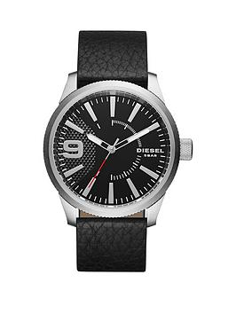 diesel-disel-rasp-black-dial-black-leather-strap-mens-watch