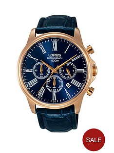 lorus-rose-gold-case-blue-leather-strap-mensnbspchronograph-watch