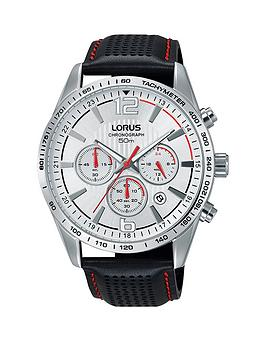 lorus-lorus-silver-dial-silver-tone-case-chronograph-black-leather-strap-mens-watch