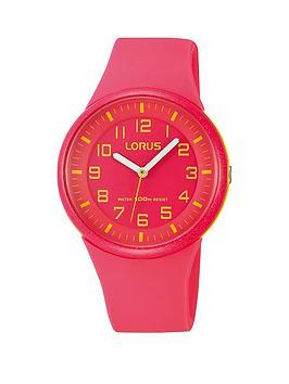 lorus-pink-silicone-strap-sports-kids-watch