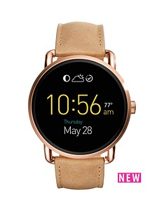 fossil-fossil-q-wander-dispay-dial-light-tan-leather-strap-smart-watch