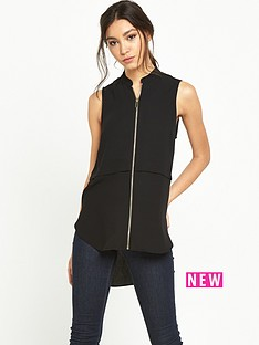 river-island-zip-front-sleeveless-blouse