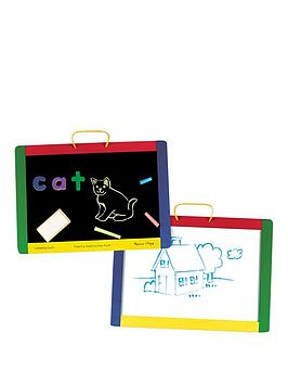 melissa-doug-magnetic-chalk-board-amp-dry-erase-board