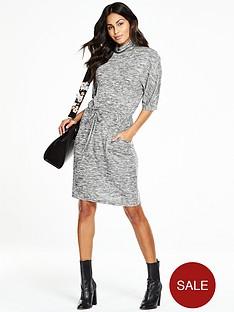 v-by-very-cowl-neck-drawstring-dress