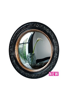 gallery-langford-convex-mirror-in-black-with-gold-rim-ndash-51cm