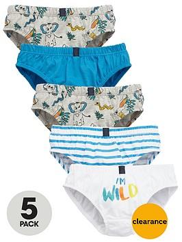 mini-v-by-very-boys-im-wild-briefs-5-pack