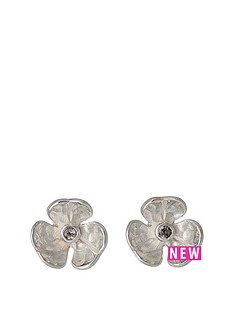 pilgrim-silver-plated-mini-flower-stud-earring