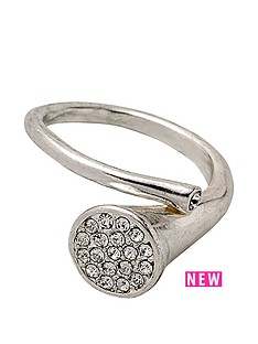 pilgrim-silver-plated-crystal-disc-cross-over-adjustable-ring