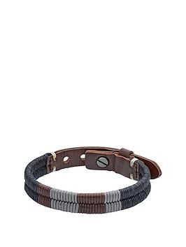 fossil-brown-leather-plait-bracelet