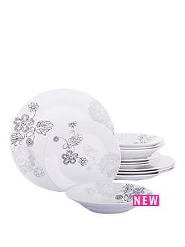 graphite-flower-12-piece-dinner-set