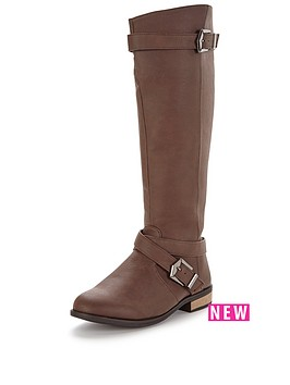 v-by-very-gertrude-knee-high-flat-riding-boot-dark-brown