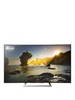 sony 50 inch 4k ultra hd hdr curved screen android smart led tv black verycouk - 50in Tv