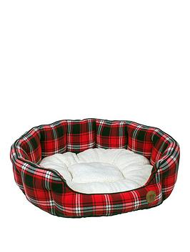 petface-20-inch-tartan-bed