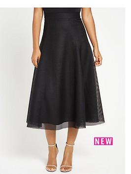 rochelle-humes-full-mesh-circle-skirt-black
