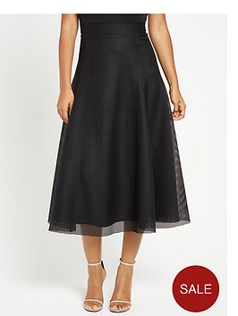 rochelle-humes-full-mesh-circle-skirt-black