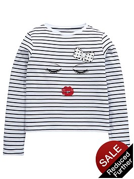 v-by-very-girls-kiss-stripe-t-shirt