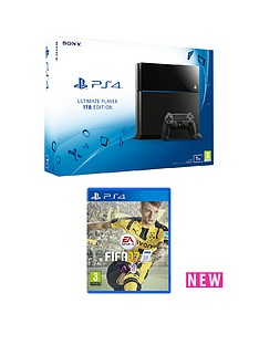 playstation-4-1tb-black-console-with-fifa-17-with-optional-extra-dualshock-controller-and-365-day-psn-subscription