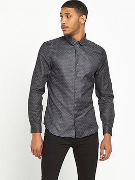 river-island-slim-fit-printed-spot-shirt