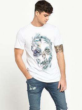 river-island-floral-skull-print-longline-tshirt