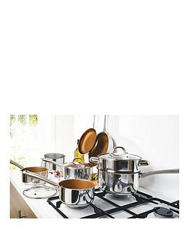 11 Piece Copper Non Stick Stainless Steel Pan Set Review thumbnail