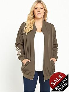 so-fabulous-embroidered-sleeve-longline-bomber-jacket-khaki