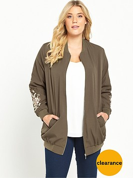 so-fabulous-embroidered-sleeve-longline-bomber-jacket-khaki