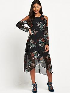 river-island-floral-cold-shoulder-midi-dress