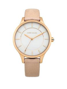 karen-millen-karen-millen-white-dial-beige-pearlised-leather-strap-ladies-watch