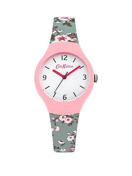 cath-kidston-cath-kidston-trailing-rose-slate-white-dial-blue-silicone-printed-strap-ladies-watch