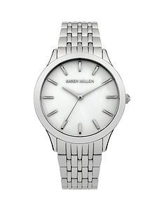 karen-millen-mother-of-pearl-dial-stainless-steel-bracelet-ladies-watch