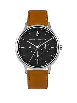 french-connection-french-connection-newgate-matte-marine-blue-dial-tan-leather-strap-mens-watch
