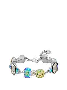 lola-and-grace-lola-amp-grace-silver-tone-plated-glam-bracelet-made-with-swarovski-elements