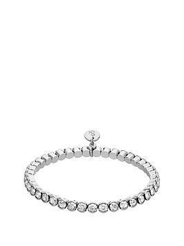 lola-and-grace-lola-amp-grace-silver-tone-plate-crystal-stretch-bracelet-made-with-swarovski-elements