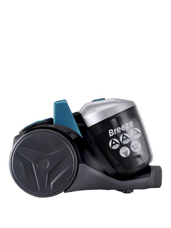 72a12d003bd6a Hoover Breeze Pets BR71BR02 Bagless Cylinder Vacuum Cleaner -  Green Grey Black