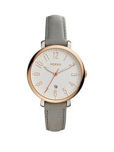 fossil-fossil-jaqueline-white-dial-rose-tone-case-grey-leather-strap-ladies-watch