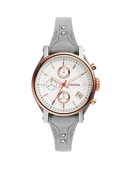 fossil-fossil-original-boyfriend-white-dial-rose-tone-case-grey-leather-strap-ladies-watch