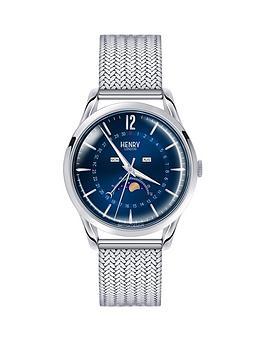 henry-london-henry-london-knightsbridge-blue-moon-face-dial-silver-tone-mesh-bracelet-mens-watch
