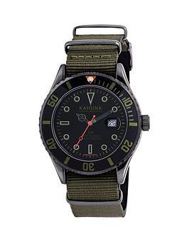 kahuna-kahuna-black-dial-khaki-strap-fabric-mens-watch