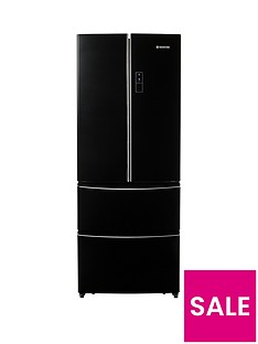 Hoover HMN7182BUK 70cm American Style 4 Door Fridge Freezer - Black