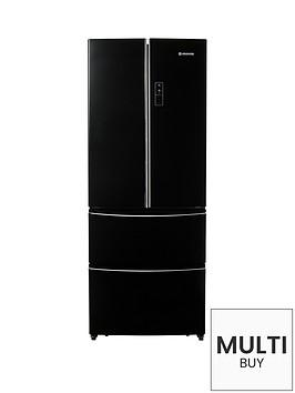 hoover-hmn7182buk-70cm-american-style-4-door-fridge-freezer-black
