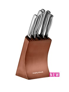 morphy-richards-morphy-richards-accents-5-piece-knife-block-copper