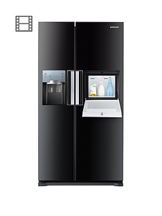 Samsung RS7677FHCBC/EU No Frost American-Style Fridge Freezer with ClearView Icemakerand Homebar- Black