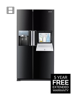 Samsung RS7677FHCBC/EU No Frost American-Style Fridge Freezer with Homebar - Black