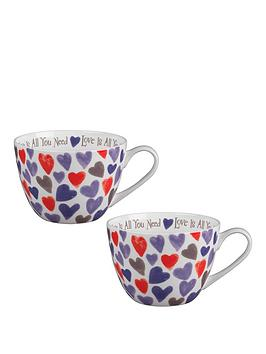 portobello-by-inspire-watercolour-hearts-bone-china-wilmslow-mugs-ndash-set-of-2