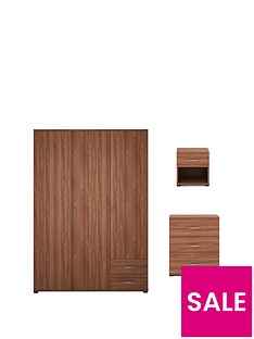 alpha-3-piece-package-3-door-wardrobe-3-drawer-chest-and-1-drawer-bedside-cabinet-buy-and-save