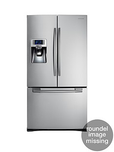 Samsung RFG23UERS1/XEU French Door Side By Side Fridge Freezer with Twin Cooling Plus - Silver, 5 Year Samsung Parts and Labour Warranty