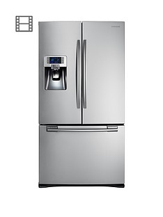 Samsung RFG23UERS1/XEU French Door Side By Side Fridge Freezer with Twin Cooling Plus - Silver