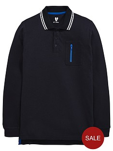 v-by-very-boys-long-sleeve-tech-zip-pique-polo